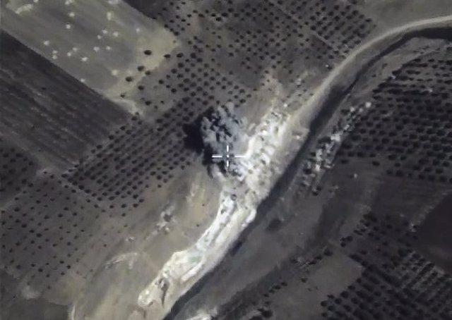 Bombardeo de la aviación rusa