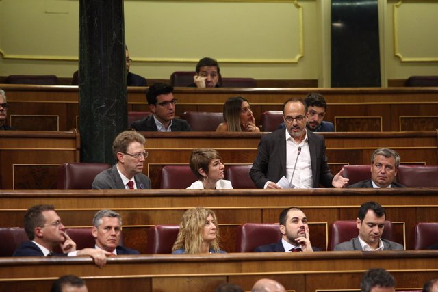 Carles Campuzano en la sesión de control al Gobierno en el Congreso