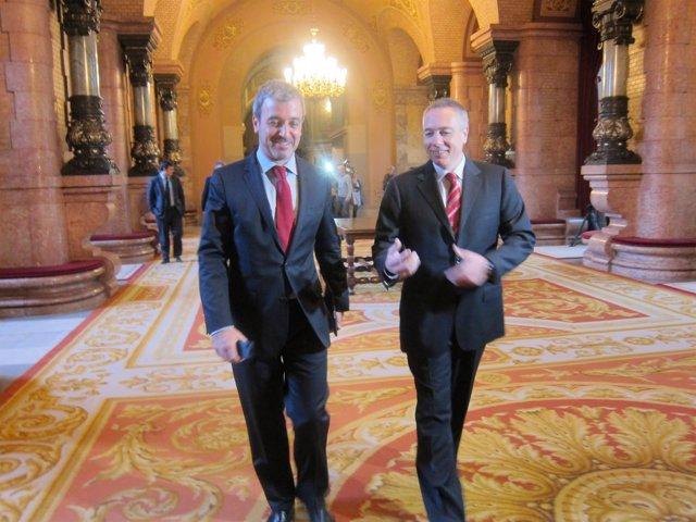 Jaume Collboni y Pere Navarro en una foto de archivo