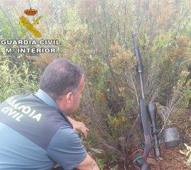 Dos detenidos en Aznalcóllar por caza furtiva y tenencia ilícita de armas