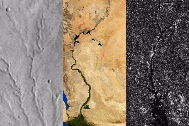 Marte, Tierra y Titán