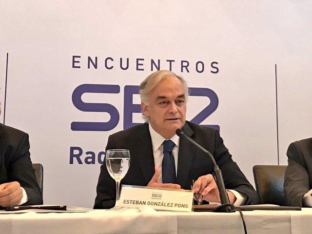 Esteban González Pons en el desayuno de la Cadena Ser