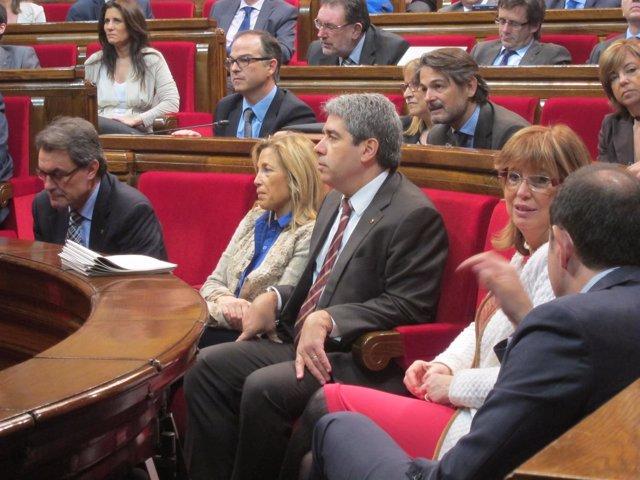 Artur Mas, Joana Ortega, Francesc Homs e Irene Rigau