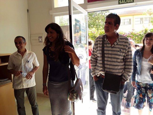 Teresa Rodríguez en Marbella (Málaga) Podemos coordinadora Andalucía