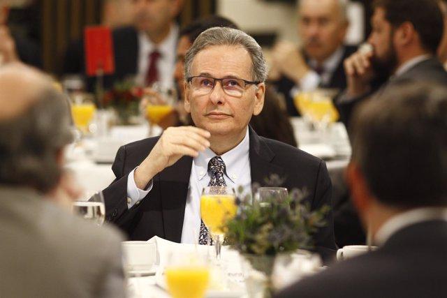 Antonio Ferreira Simoes, en un desayuno deportivo de Europa Press
