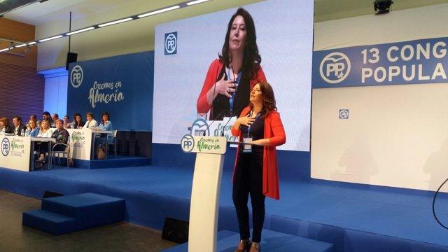 La portavoz del PP-A en el Parlamento, Carmen Crespo