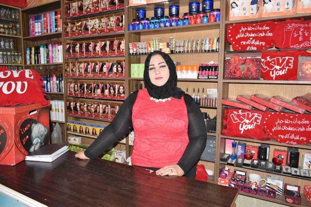 Hanan, refugiada palestina en Damasco que ha recibido ayuda de UNRWA