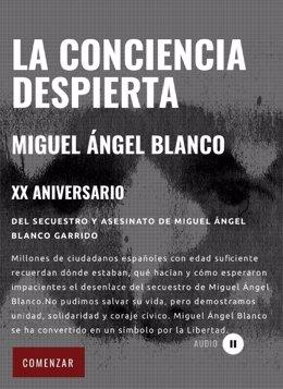 Captura de la web de la Fundación Miguel Ángel Blanco