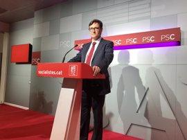 """El PSC insta a Puigdemont a comparecer en el Congreso """"si tiene realmente voluntad de negociar"""""""