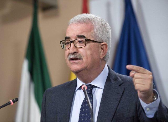 El vicepresidente del Gobierno andaluz, Manuel Jiménez Barrios