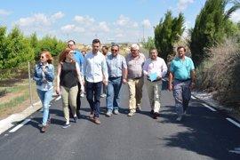 """Cano (PP) dice que la inversión en el camino del Tamarit """"demuestra compromiso del Gobierno con los agricultores"""""""