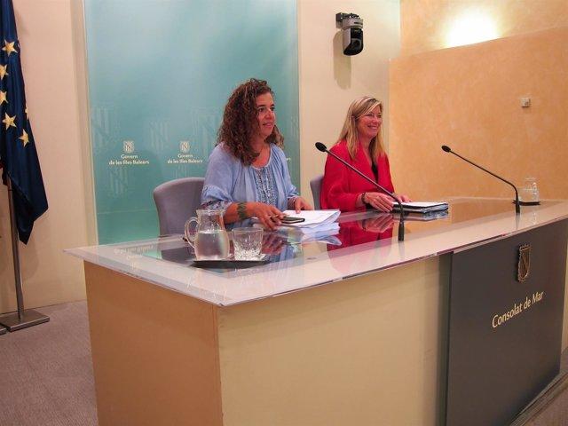 La portavoz del Govern, Pilar Costa, y la consellera de Salud, Patricia Gómez