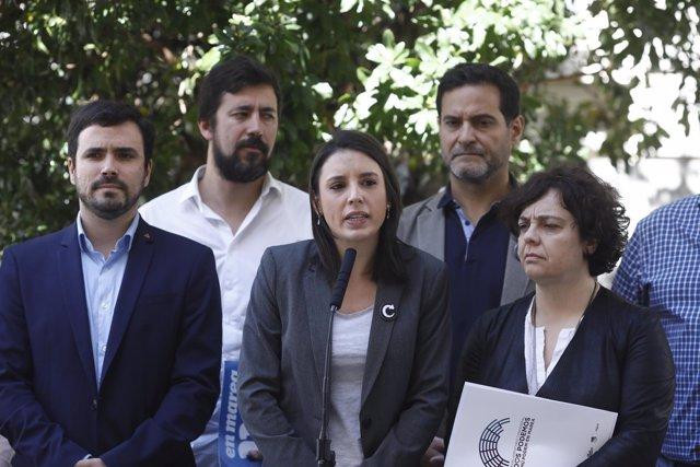 Unidos Podemos registra en el Congreso la moción de censura contra Rajoy