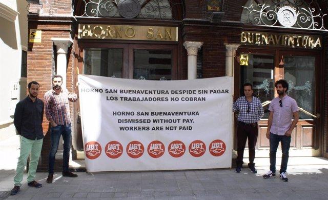 Protesta de los trabajadores afectados.