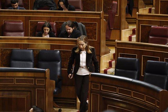 Irene Montero, Pablo Iglesias y Ana Pastor en el Congreso