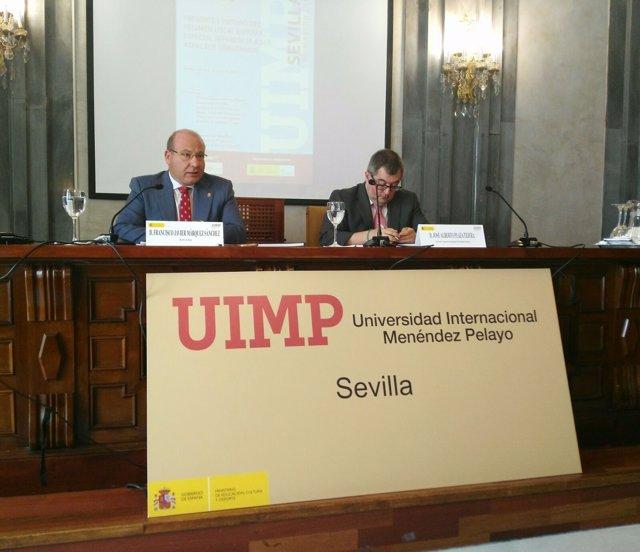 El alcalde de Jaén, Javier Márquez, participa en un curso de la UIMP en Sevilla