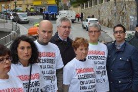 """PP de Bilbao pide al alcalde que construya """"el ascensor prometido"""" en el barrio de Zurbaranbarri"""