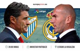 Horario y dónde ver el Málaga – Real Madrid | 38ª jornada Liga Santander 2017