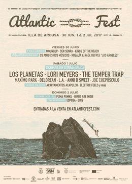 Cartel completo del Atlantic Fest