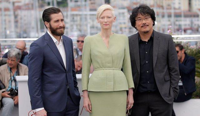 Jake Gyllenhaal, Tilda Swinton y Bong Joon-Ho