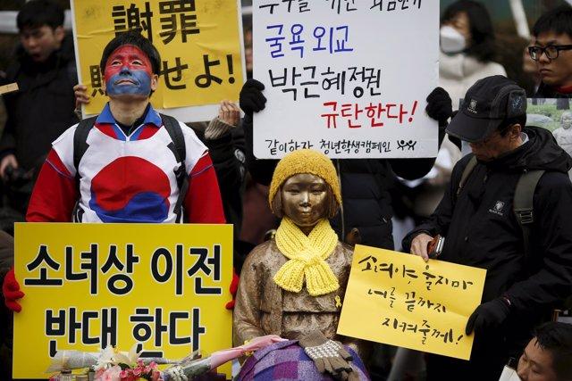 Manifestación por las esclavas sexuales coreanas en Seúl