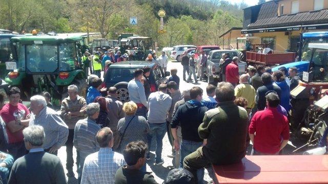 Tractorada en Viana do Bolo