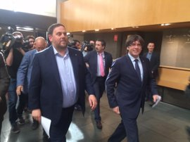 Oriol Junqueras pide al Gobierno retirar las querellas al Parlament tras la propuesta a Puigdemont