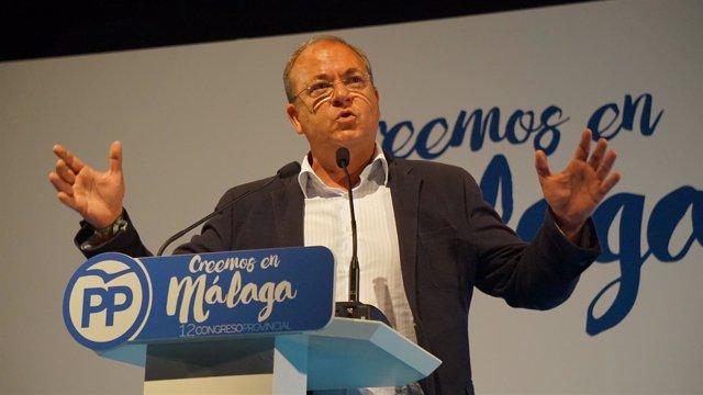 El Presidente Del PP De Extremadura, José Antoni