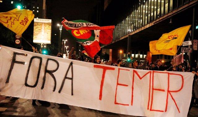 Protestas en contra de Michel Temer