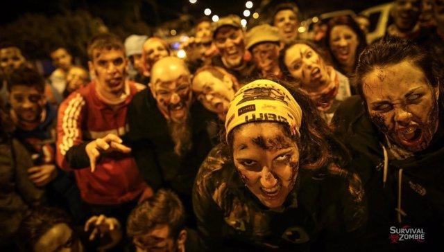 Participantes en el Survival Zombie