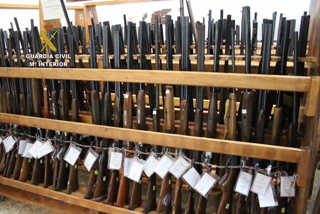 Armas para subasta de la Guardia Civil