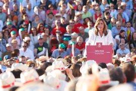 """Susana Díaz espera un """"gran día"""" mañana para que el PSOE empiece a levantarse para encargarse del país"""