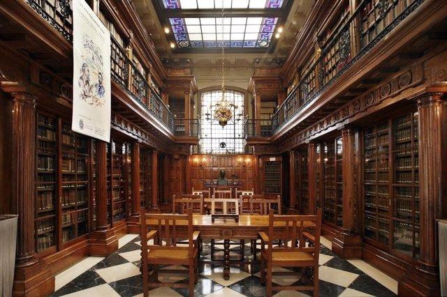 Biblioteca Menéndez Pelayo. Vidrieras