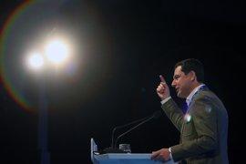 """Moreno: Mientras para Susana Díaz y el PSOE """"Andalucía es lugar de paso"""", el PP """"está preparado para hacer historia"""""""