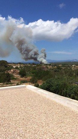 Incendio en Formentera