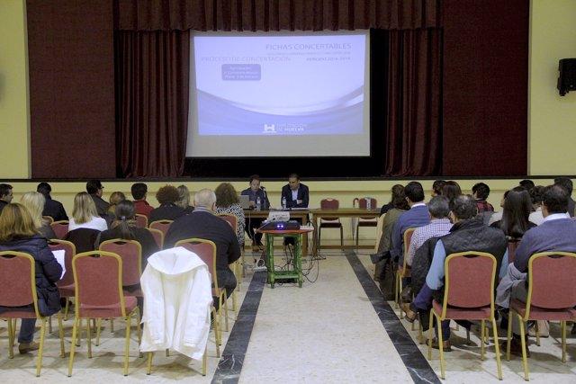 Presentación de servicios concertados en Andévalo y Costa