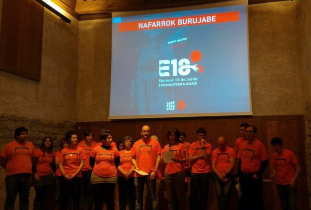 Presentación de las consultas de Gure Esku Dago en Navarra