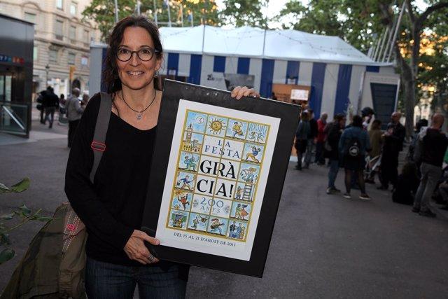 Marta Teresa Calbó, autora del cartel de la Fiesta Mayor de Gràcia 2017