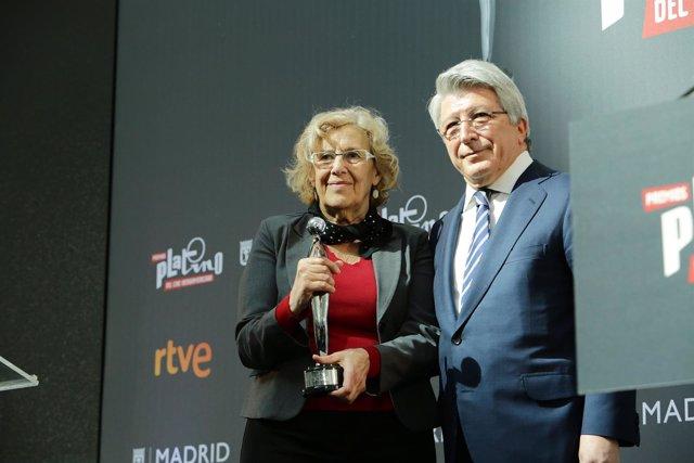 Manuela Carmena y Enrique Cerezo
