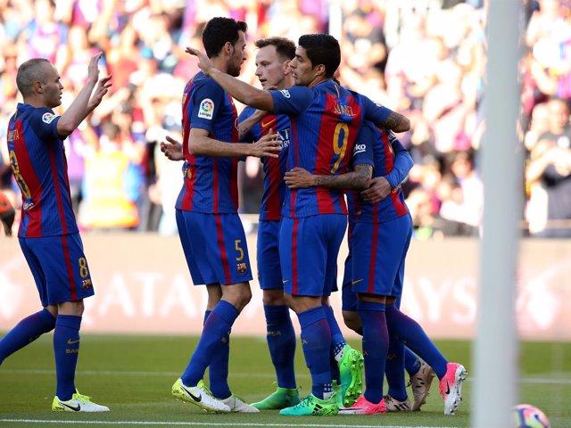 El Barcelona derrota al Villarreal en Liga
