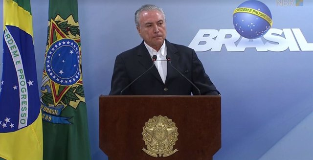 El presidente brasileño, Michel Temer