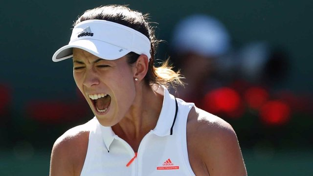 Garbiñe Muguruza gana en Indian Wells