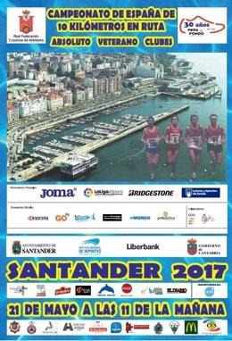 Cartel IX Campeonato de España de 10 km ruta