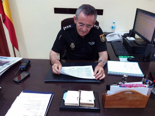 El comisario jefe provincial del CNP, Jesús Herranz