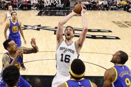 Los Spurs de Pau Gasol vuelven a caer y los Warriors se quedan a un triunfo de la final
