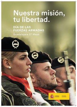 Cartel de campaña por el Día de las Fuerzas Armadas 2017
