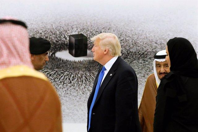 El presidente de EEUU, Donald Trump, durante su visita a Arabia Saudí