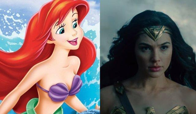 La Sirenita y Wonder Woman