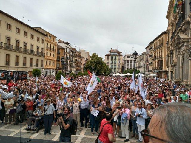 Manifestación por la capitalidad judicial de Granada