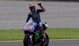 Viñales recupera el liderato tras la caída de Rossi y Pedrosa sube al podio